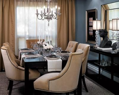 Blue Gray Dining Room Benjamin Moore Cloudy Sky Originally Uploaded By XJavierx Designer Candice Olson Gave This A Glamo