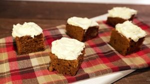 Ginger Pumpkin Bars with Cream Cheese Icing Recipe | The Chew - ABC.com