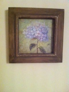 chunky cottage floral picture