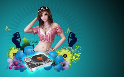 DJ girl wallpaper