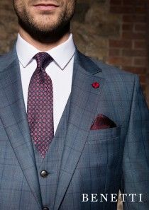 Tapered Fit Bonn Ice 3 Piece Suit