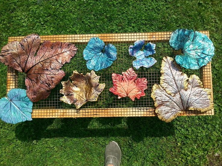 Cement leaves, for indoor decor!!