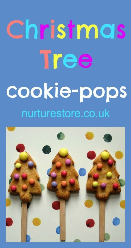 Christmas tree cookie-pops