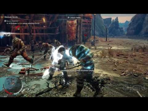 4K PS4 Pro: Shadow of Mordor - Taking Down the First Enemy Encampment