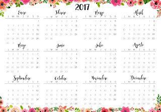 Heli Papeles ♥: Calendarios 2017 y Planner Semanal imprimible.