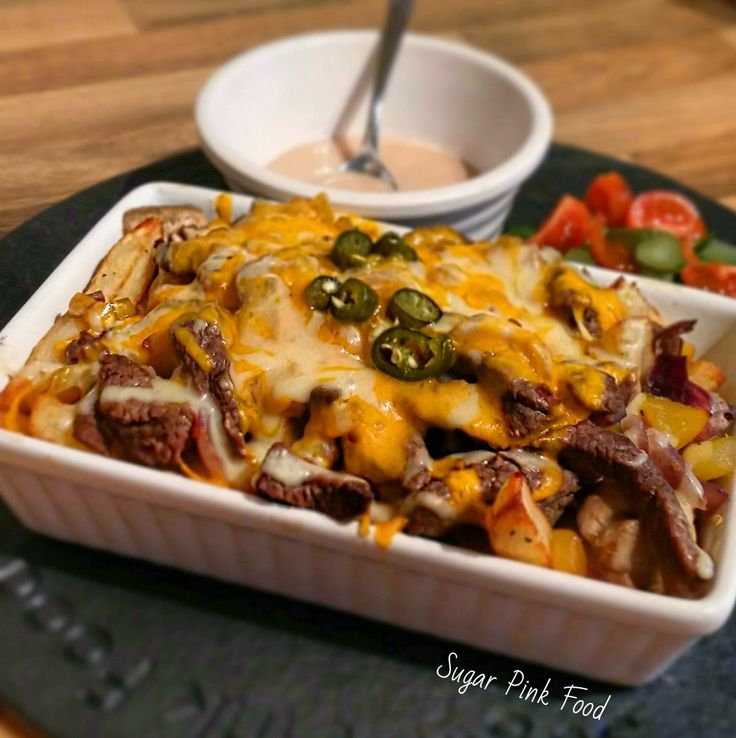 Sugar Pink Food: Slimming World Recipe:- Philly Cheesesteak Fries