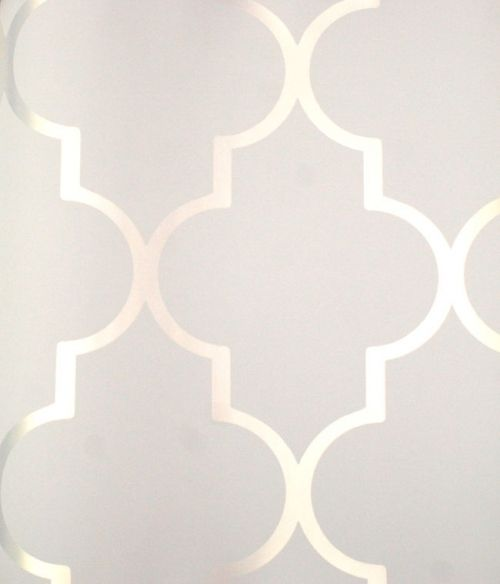 Silver Reflective  Alahambra  on White   Mood Living. 17 Best ideas about Silver Wallpaper on Pinterest   Damask