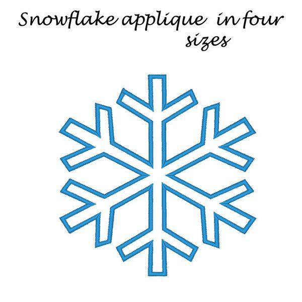 Machinaal borduren patroon sneeuwvlok toegepast . van BrodonsLand op DaWanda.com