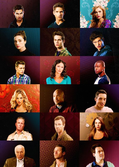 Teen Wolf Cast. Well... everyone but the Alpha Pack...