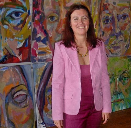 Sherry Tompalski, with Talking Portraits on CTV's Tech Now program
