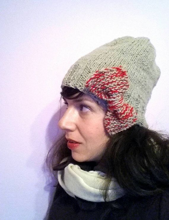 Check out this handmade winter hat  in my Etsy shop https://www.etsy.com/listing/224378548/handknitted-beige-hat-with-big-bow-one