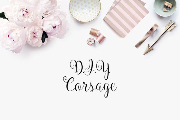 DIY corsage, Wedding http://www.styleinspiredweddings.com/2016/07/22/d-y-corsage/