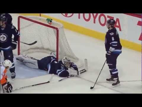 Winnipeg Jets Ondrej Pavelec, save of the year!