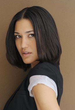 The gorgeous Julia Jones, from the Twilight films - I wish I could find an image of her with long, braided her like Frost. But otherwise, she's pretty much spot on (although she doesn't have spooky grey wolf eyes - but no real person does!). redzolah