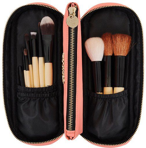 34 Makeup Brush Sets to Make Application as Easy as ABC House Of CB 'Hey Doll' Pink Champagne Real Bristle Make Up Brush Set House Of CB 'Hey Doll' Pink Champagne Real Bristle Make Up Brush Set (£25)