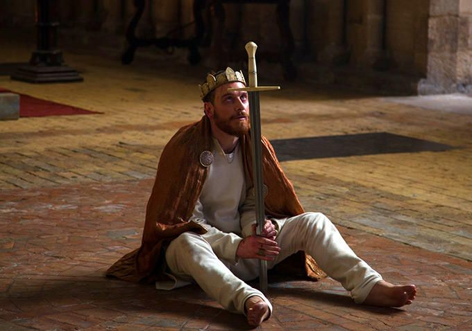 This photo shows Macbeth after he became the new king. In my opinion, i this this photo is more accurate in Macbeth, because he killed a lot of people and always can't fall in sleep because he  feel guilty, those all happens after he became the king.