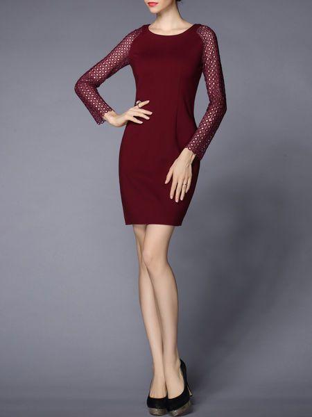 Pierced Cotton-blend  #Mini #dress  #stylewe