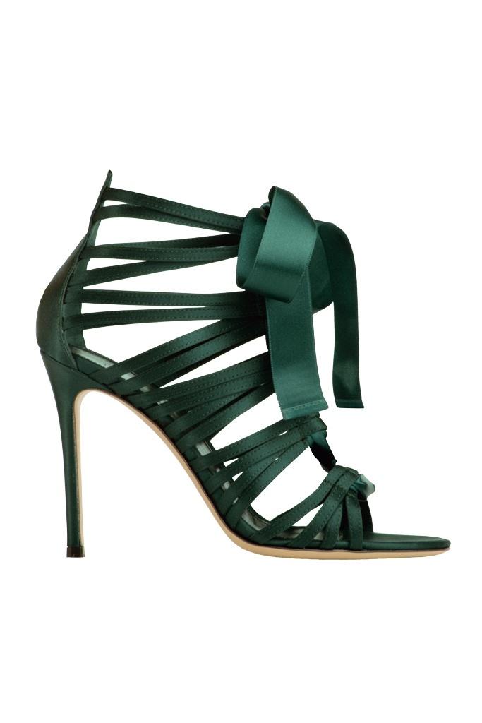 Hermosas sandalias verdes de Gianvito Rossi (690€)