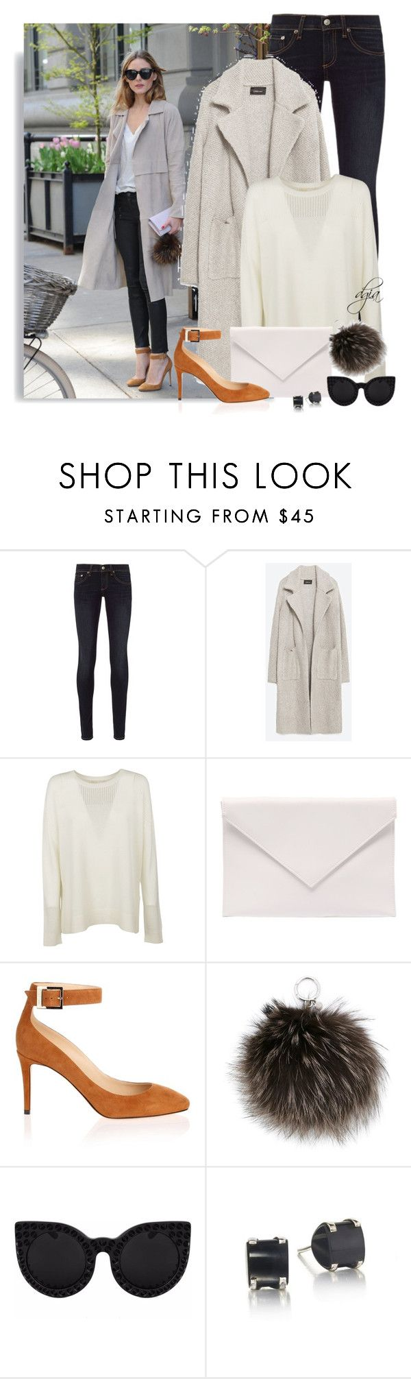 """Zara coat"" by dgia ❤ liked on Polyvore featuring Whiteley, rag & bone, Zara, Michael Kors, Verali, Jimmy Choo, MICHAEL Michael Kors and Delalle"