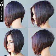 highlighted short inverted bob hairstyle