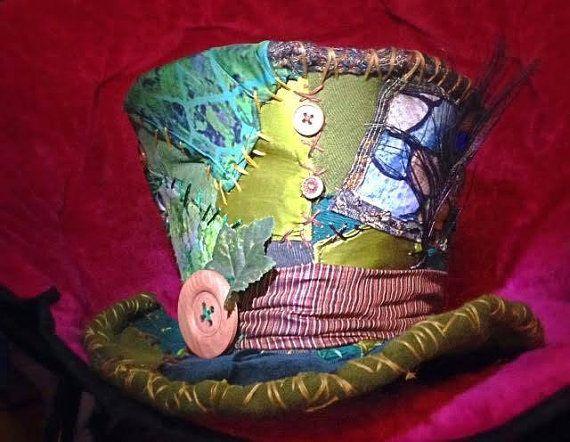 Mad Hatter hoed, Kabouter hoed, elf kostuum, top hat, Woodland Elf, Fairy, renaissance hoed, Festival, kostuum hoed