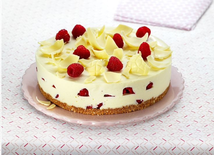 Recette Cheesecake met witte chocolade en frambozen