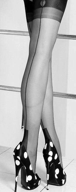 Silk stockings and heels