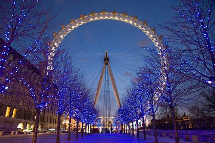 London Eye , great views from the top.