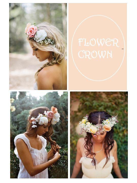 Couronnes de fleurs coiffure mariage pinterest couronne de fleurs couronnes et coiffure - Coiffure couronne de fleurs ...