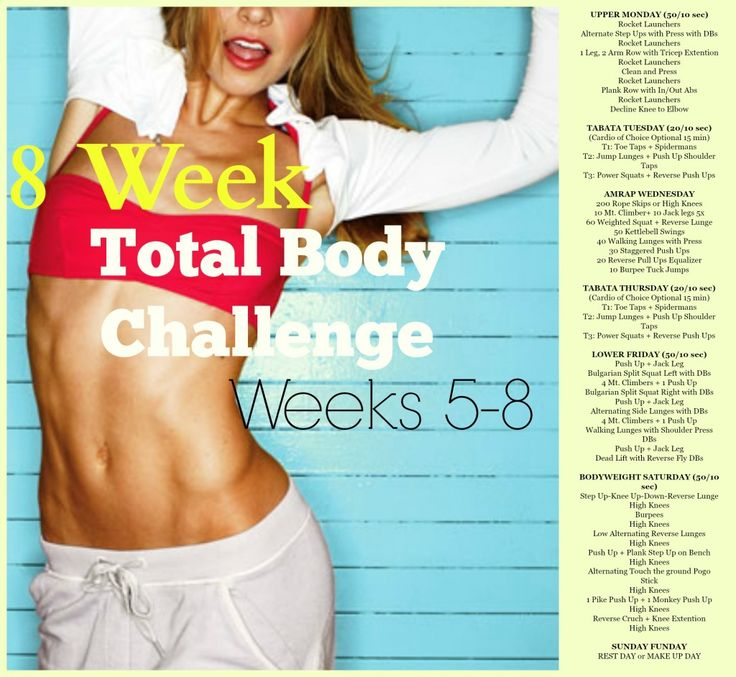 Weeks 5-8: BodyRock.Tv 8 week total body challenge image