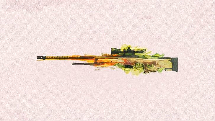 Download AWP Dragon Lore CSGO Sniper Rifle Wallpaper 1920x1080