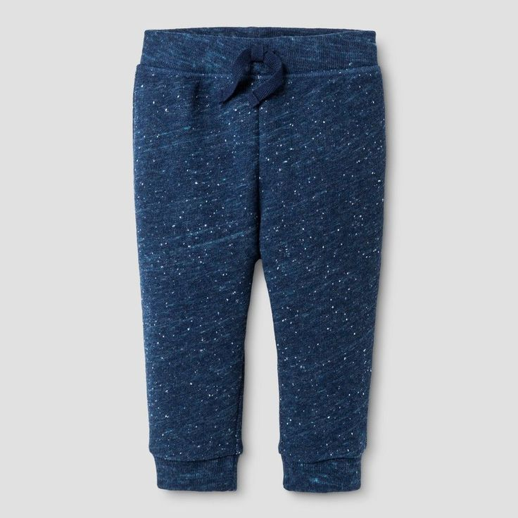 Baby Boys' Jogger Pant - Baby Cat & Jack Navy with Turq Neps 3-6 M, Blue