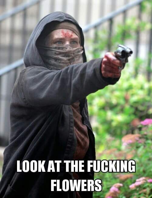 The Walking Dead season 6 episode 2 - JSS || Carol FTW || Look at the flowers Lizzie || Twd funny memes || Carol is a badass