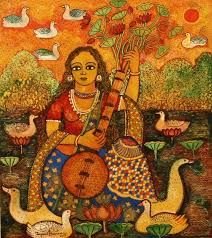 Jayasri Burman is a contemporary Indian artist whose works are mainly in water colors depicting the vast tradition of Hindu mythology and women centric issues.