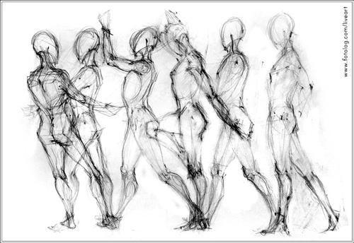 dibujos del cuerpo humano en movimiento - Buscar con Google