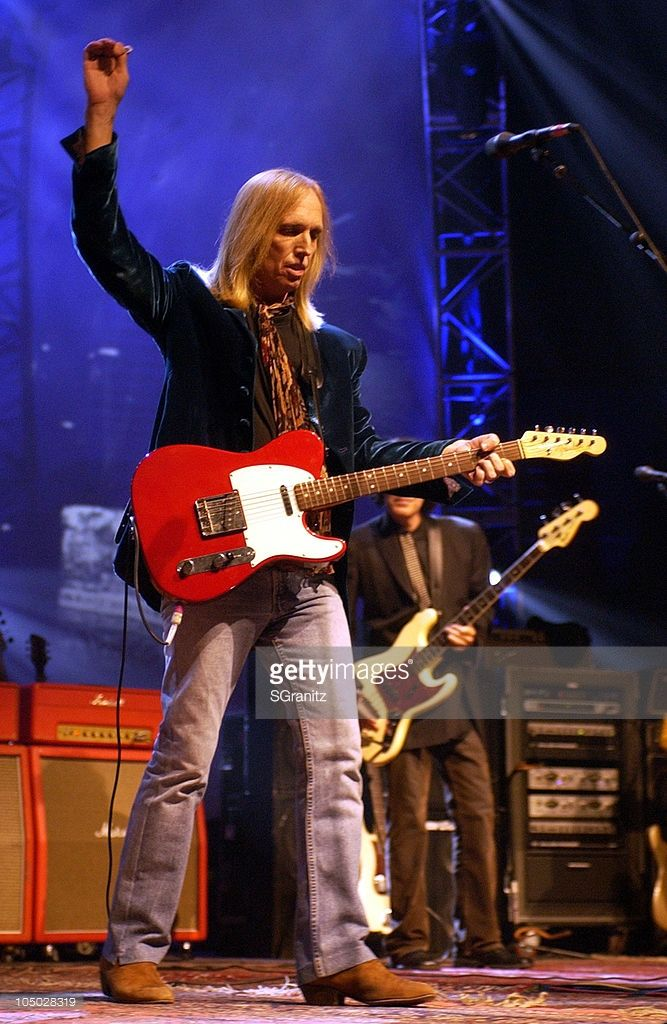 Tom Petty during Tom Petty and the Heartbreakers Tour 2002 - Los Angeles at The Forum in Los Angeles, California, United States.