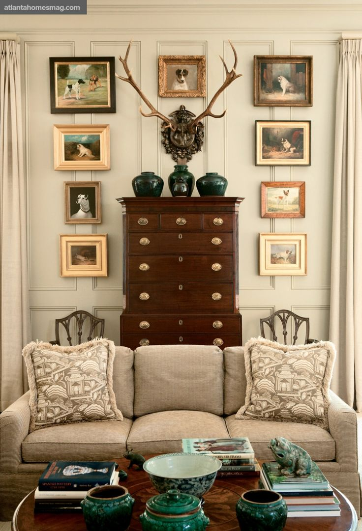I so love this room, especially paneled walls!
