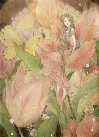 Fairy  artist?  I hate reposting art with no artist named...but this is lovely...