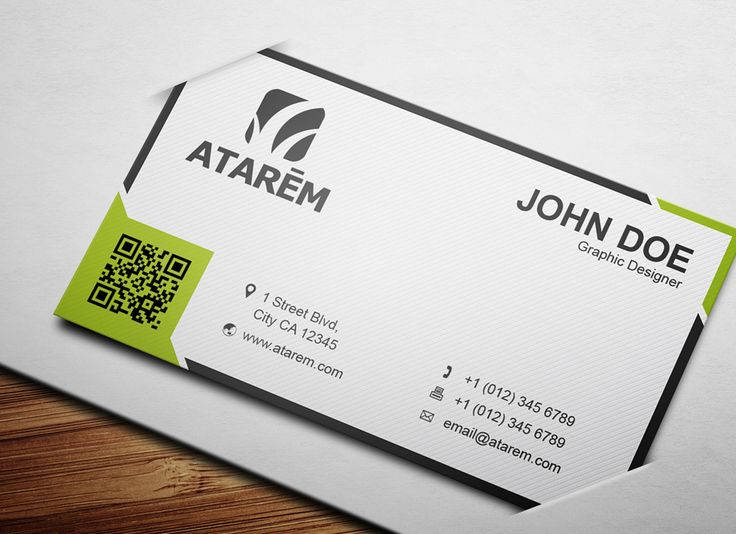 Modern QR Code Business Card |