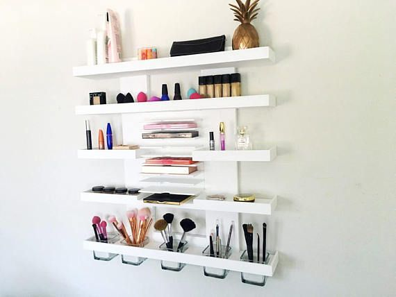 Modern Wall Mounted Makeup Organizer Makeup Shelf Makeup Wall Mounted Makeup Organizer Wall Cubbies Shelves