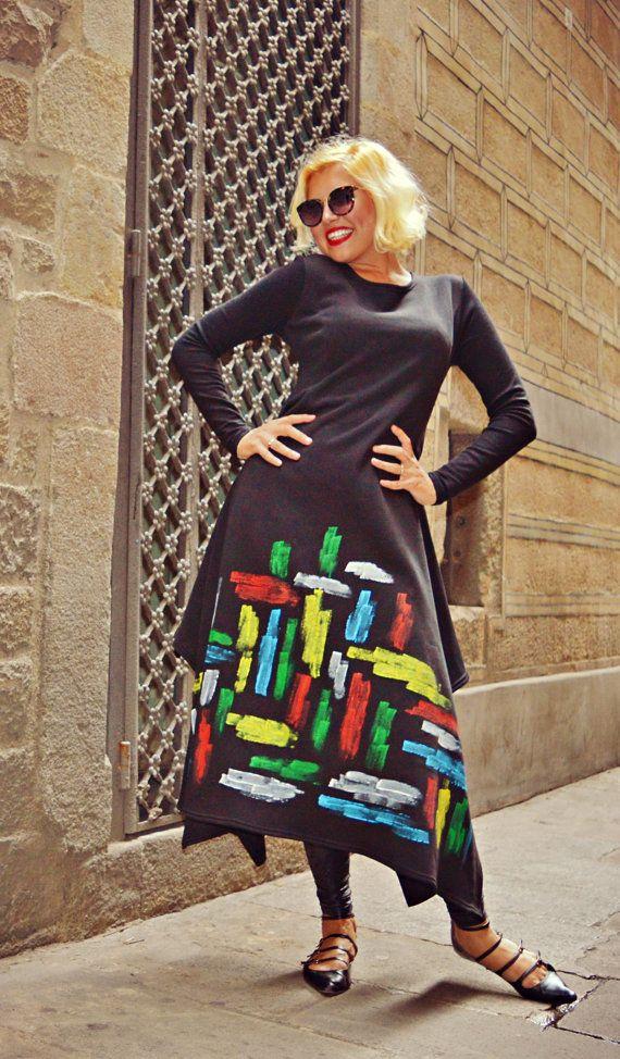 Handmade Painted Maxi Dress TDK208 Extravagant Loose Black https://www.etsy.com/listing/481413697/handmade-painted-maxi-dress-tdk208?utm_campaign=crowdfire&utm_content=crowdfire&utm_medium=social&utm_source=pinterest