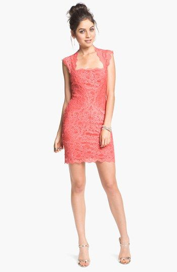 17 best ideas about lace sheath dress on pinterest for Nicole miller wedding dresses nordstrom