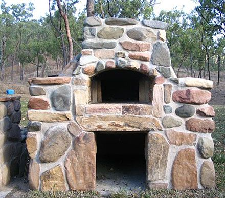 River Rock Outdoor Oven