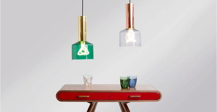 $99 EA MADE UK Rehm Pendant Lamp and Plumen 001 Bulb, Smoke Grey and Copper   made.com