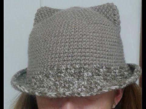 gorro a crochet con orejitas en todas las tallas - YouTube