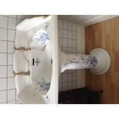patterned flower bathroom victorian blue sinks - Google Search