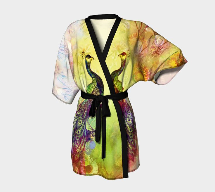 """Kimono+Robe+""""In+the+Garden+of+My+Mind""""+by+JaniceO"""