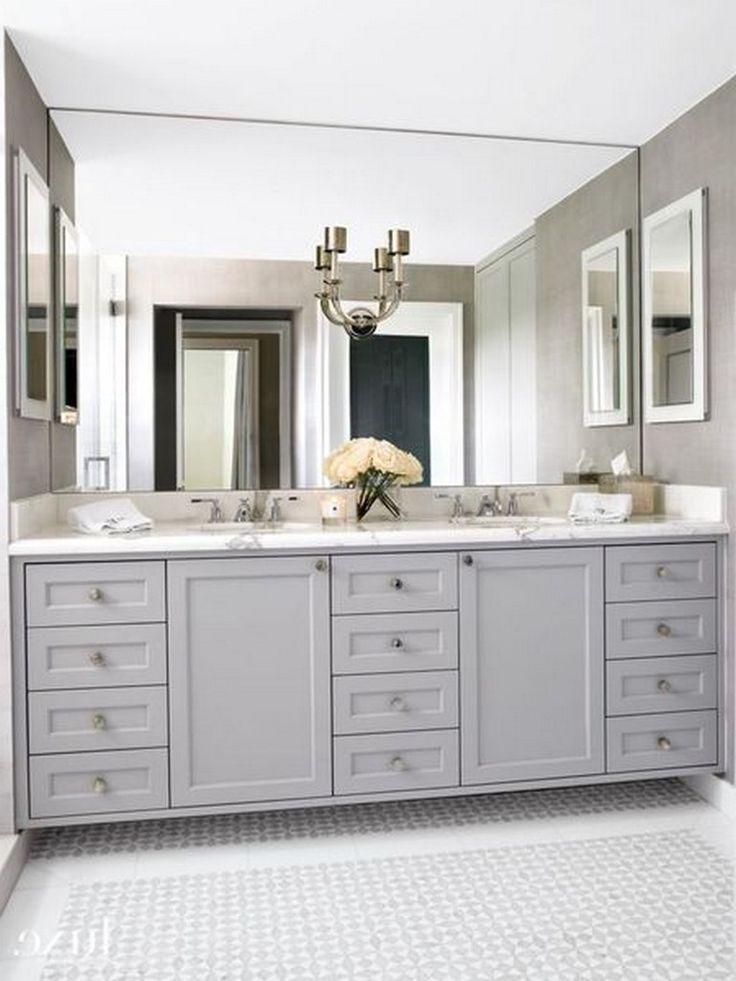 85+ Easy and Elegant Bathroom Mirrors Design Ideas | Large ...