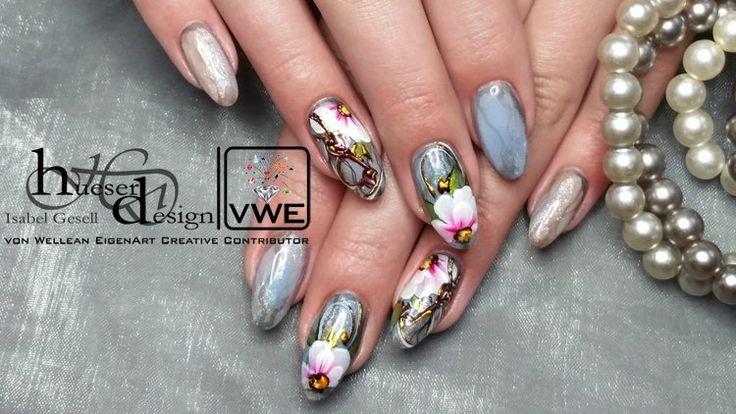 Vintage Look UV Gel fingernails with High Definition UV Gel from von Wellean EigenArt.