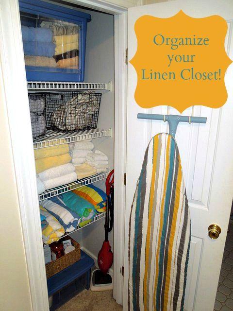 Linen Closet Organization Organize Bathroom Pinterest Best Linen Closet Organization